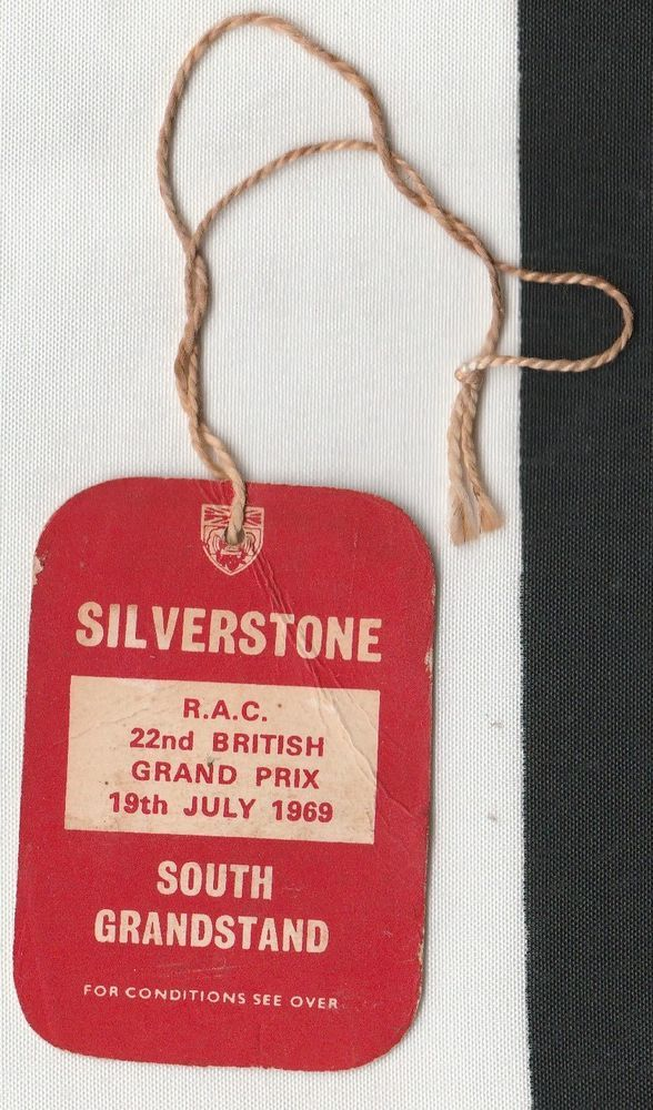 22nd BRITISH GP 1969 SILVERSTONE F1 GRANDSTAND ENTRY PASS TICKET ...