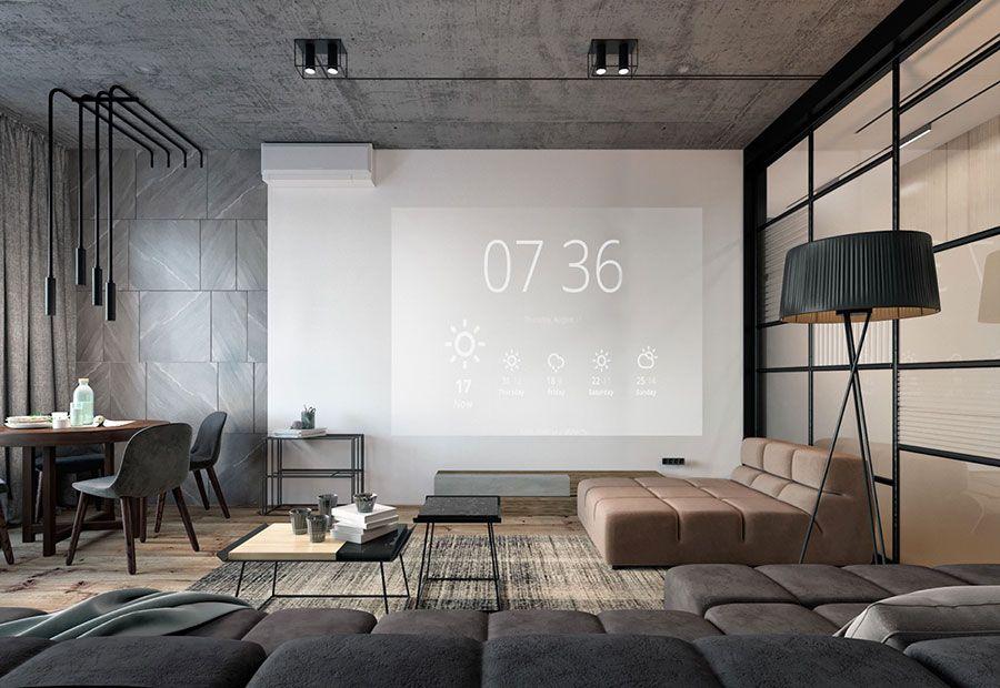 Interni Casa Grigio : Arredi e pareti grigio tortora tante idee dal design moderno e