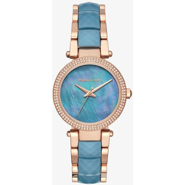 39310db133e Parker Pavé Rose Gold-Tone And Acetate Watch ❤ liked on Polyvore featuring  jewelry