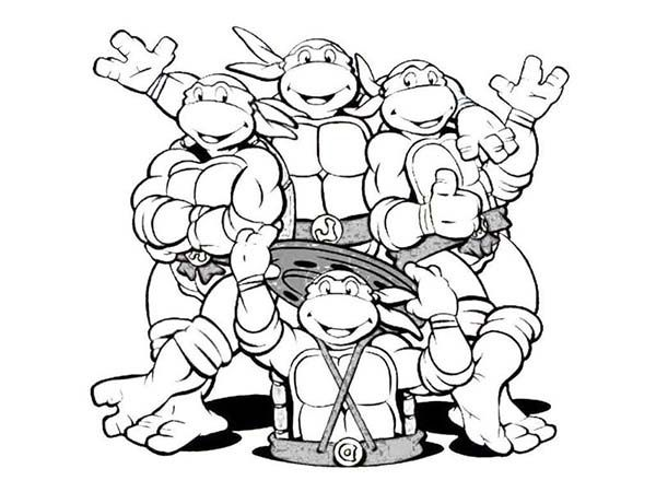 Ninja Turtles Happy Birthday Coloring Pages