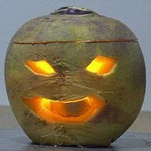 turnip jack o lantern irish fake a scarier monster to scare smaller monsters