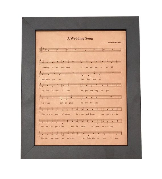 9th Anniversary Leather Gift For Him Engraved Sheet Music Leather