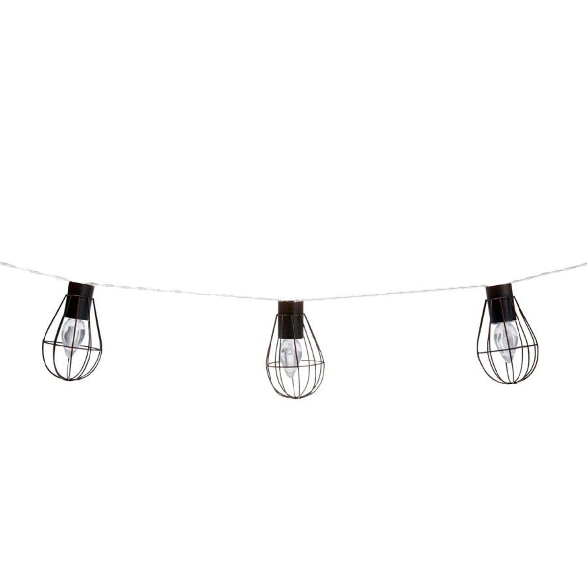 Solar Cage String Lights 10 Led Kmart Ceiling Outdoor