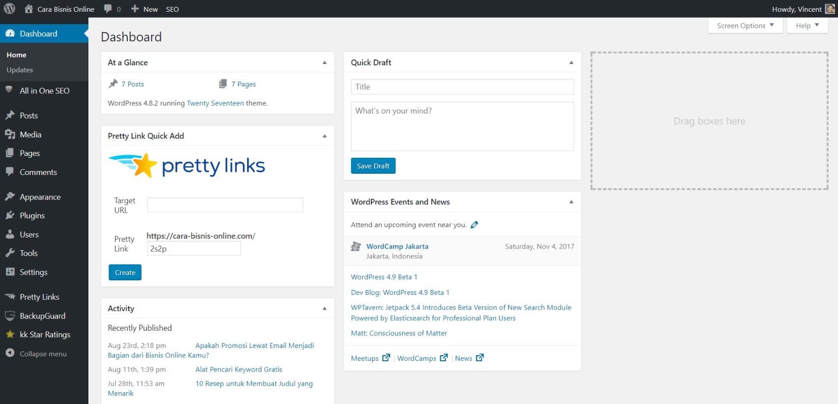 Cara Mudah Mempersiapkan Website Menggunakan Dashboard Wordpress