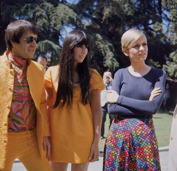 Sonny, Cher, Twiggy