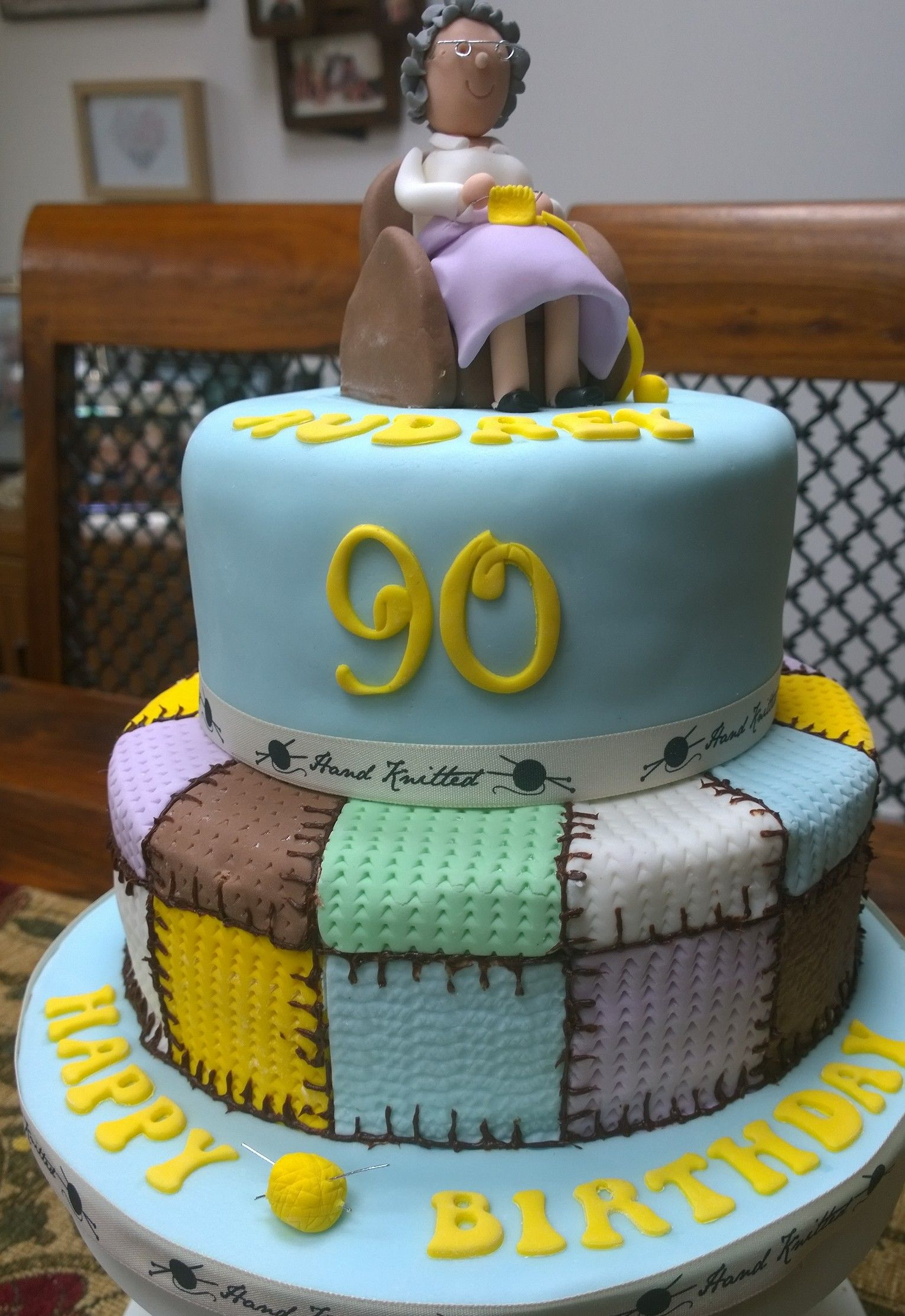 Birthday Cake For A 90 Year Old Knitter