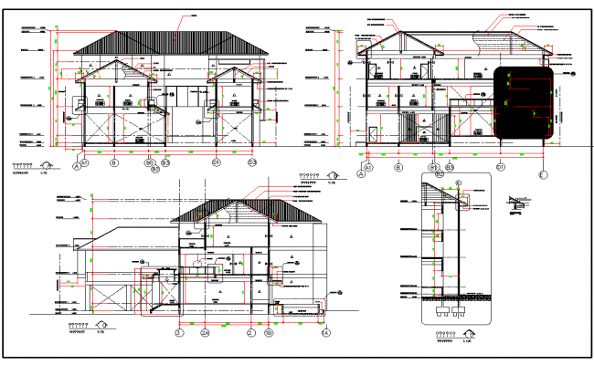 Residential Section Plan With Detailing How To Plan Architectural Section Floor Plans