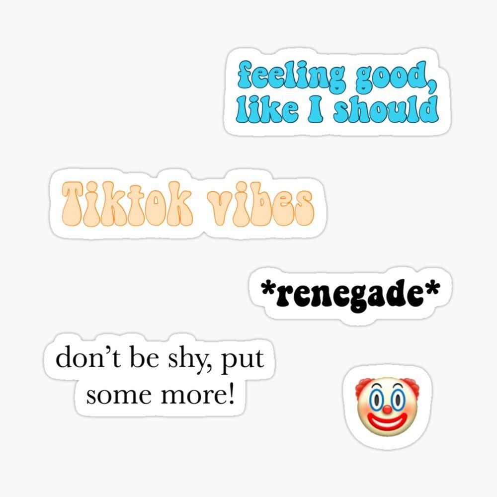 Tiktok Sticker Pack Sticker By Itsmevilma In 2021 Stickers Stickers Packs Tumblr Stickers
