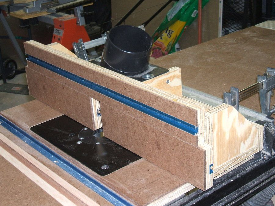 Table saw wing router fence. - by dbhost @ LumberJocks.com ~ woodworking community