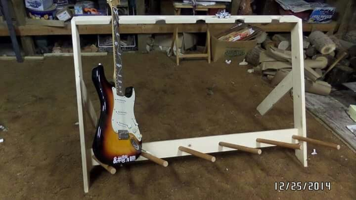 14 yr old bother made this guitar stand for his 23 yr old brother wanted to share..♥