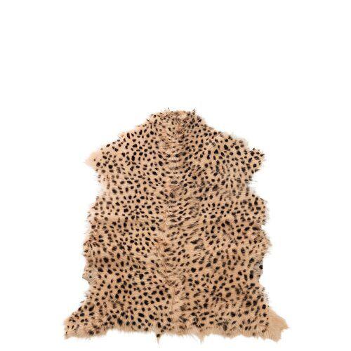 Gene Leopard Goat Skin Mix Brown Rug