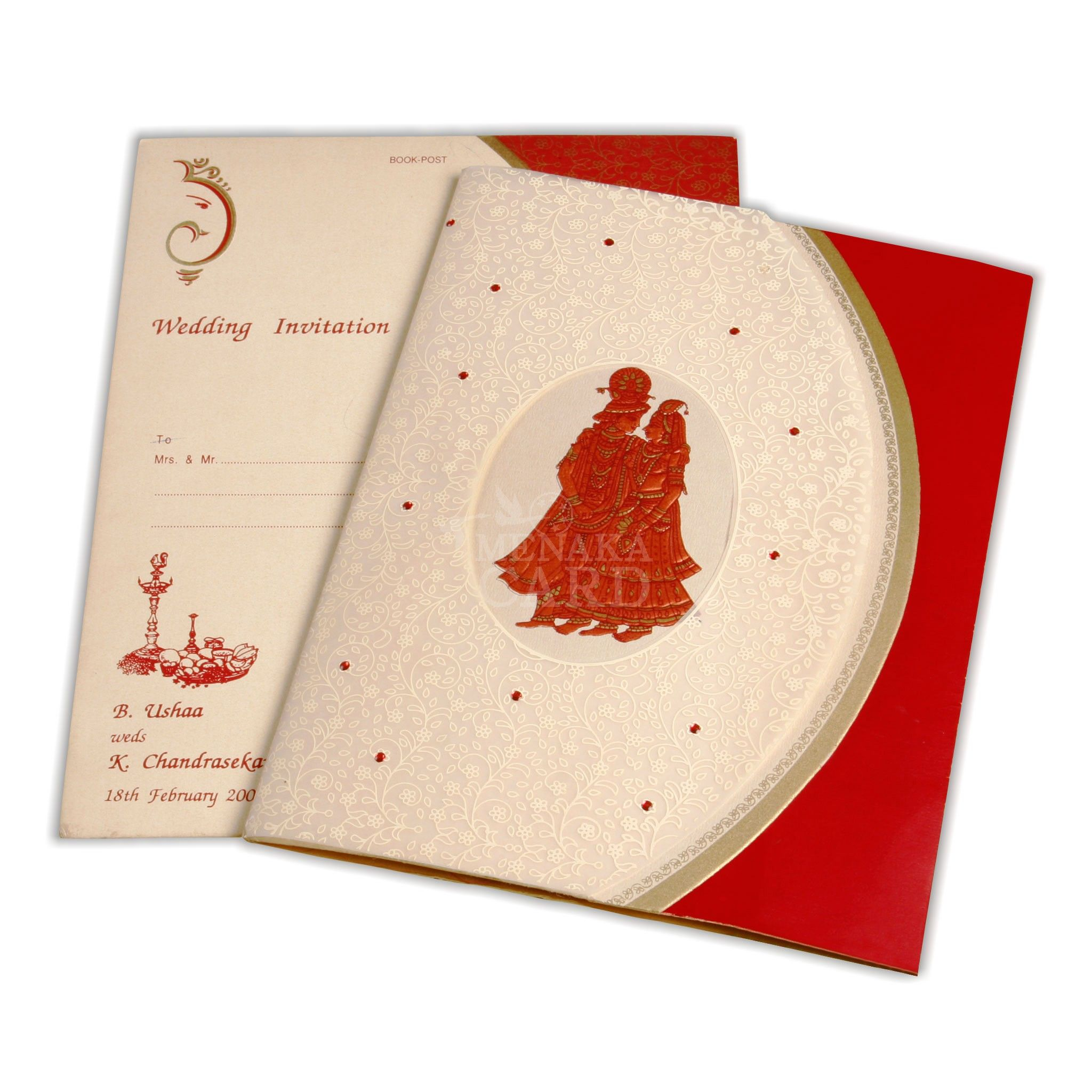 Ss-5006 | Copper color, Floral designs and Wedding card