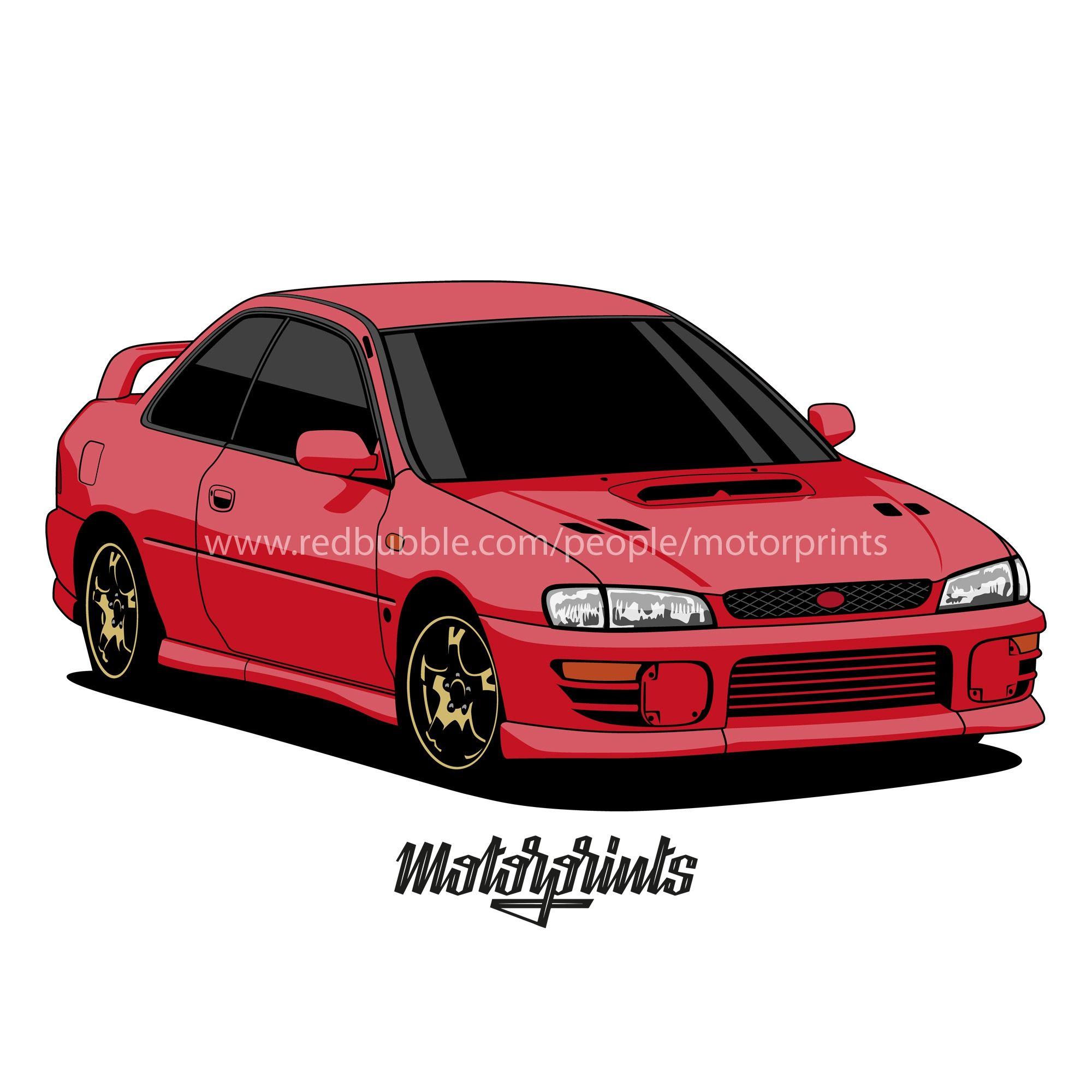 Subaru Impreza Wrx Sti Motorprints Gifts & Merchandise