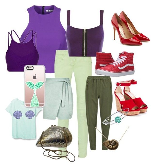 """Ariel 💚"" by annrabich on Polyvore featuring T By Alexander Wang, Balmain, Vero Moda, River Island, WearAll, Lorna Jane, Vans, Salvatore Ferragamo, Jimmy Choo and Casetify"