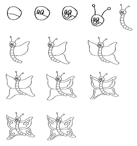Magnifiek Vlinder | Ylliin - Butterfly drawing, Drawings en Animal drawings @DE28