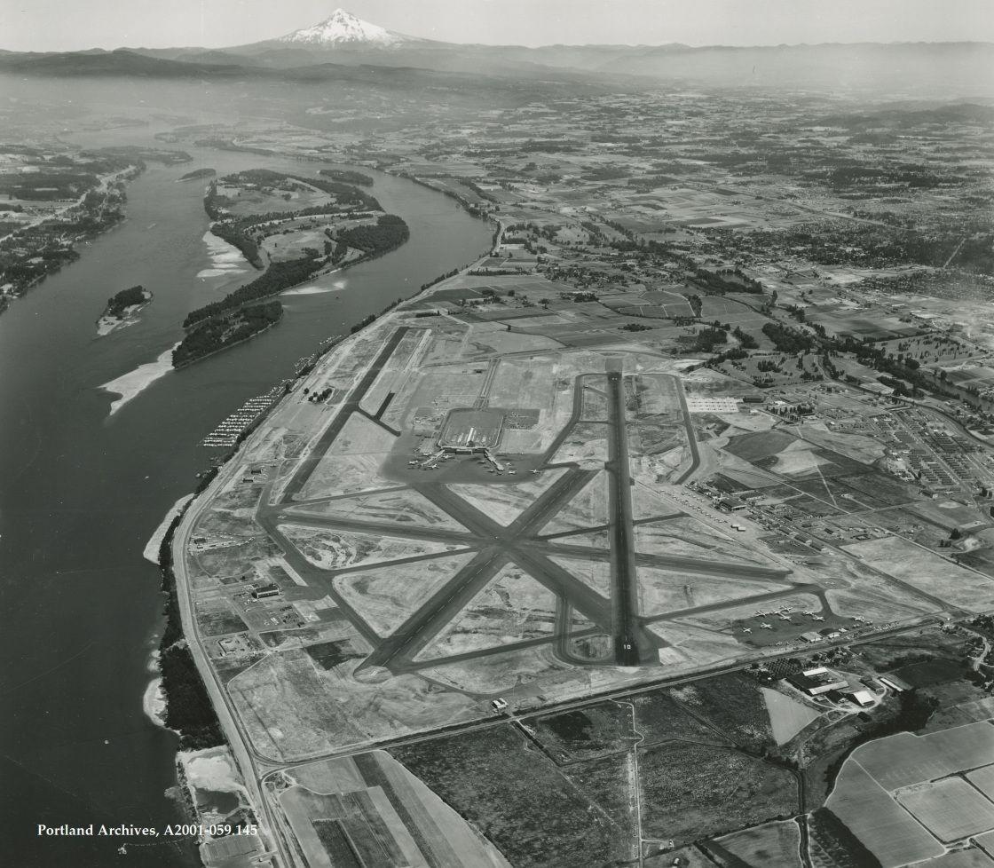 Portland International Airport in 1960. in 2020 Keizer
