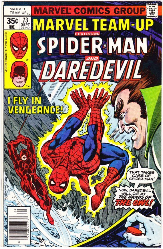 Marvel Team Up 73, Daredevil, Spiderman comic book, 1976, VFNM (9.0) #comicbooks