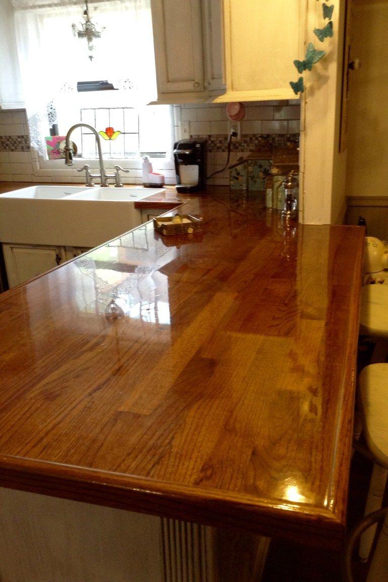 Remodelaholic Diy Butcher Block Wood Countertop Reviews In 2020 Wood Countertops Countertops Butcher Block Countertops