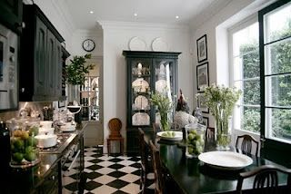 Black Kitchen Cabinets? British Colonial Style.
