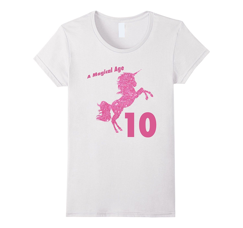 Kids 10th Birthday Unicorn T T Shirt For 10 Yr Old