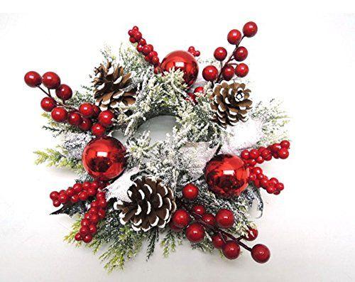 christmas Candle ring Christmas centerpiece Pre Lit Christmas  centerpiece Christmas table decoration christmas wreath