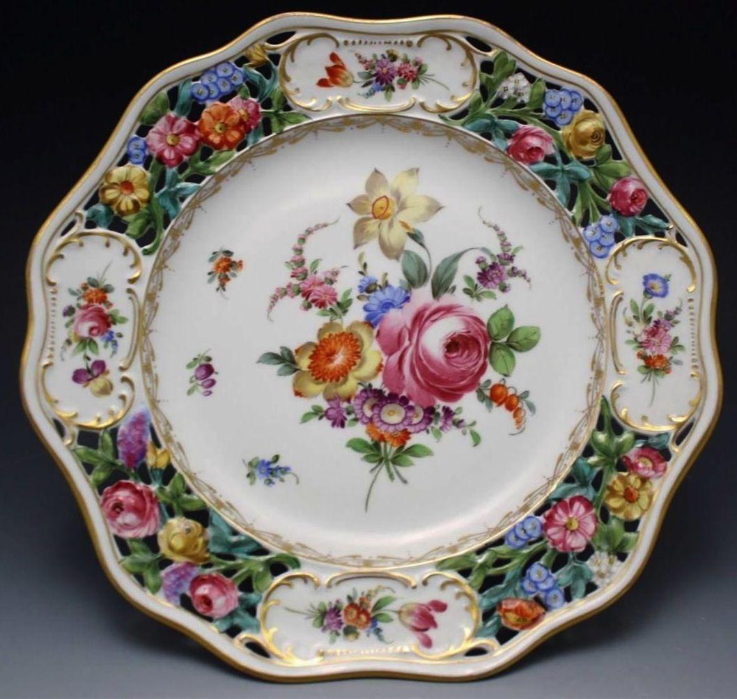 Dresden porcelain compote & Dresden porcelain compote | meissen dresdan nippon | Pinterest ...