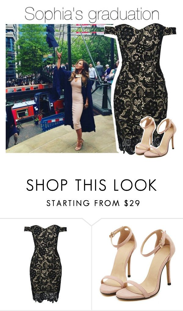 """Sophia's graduation #CongratsSophia ♥"" by smery09 ❤ liked on Polyvore featuring WithChic"