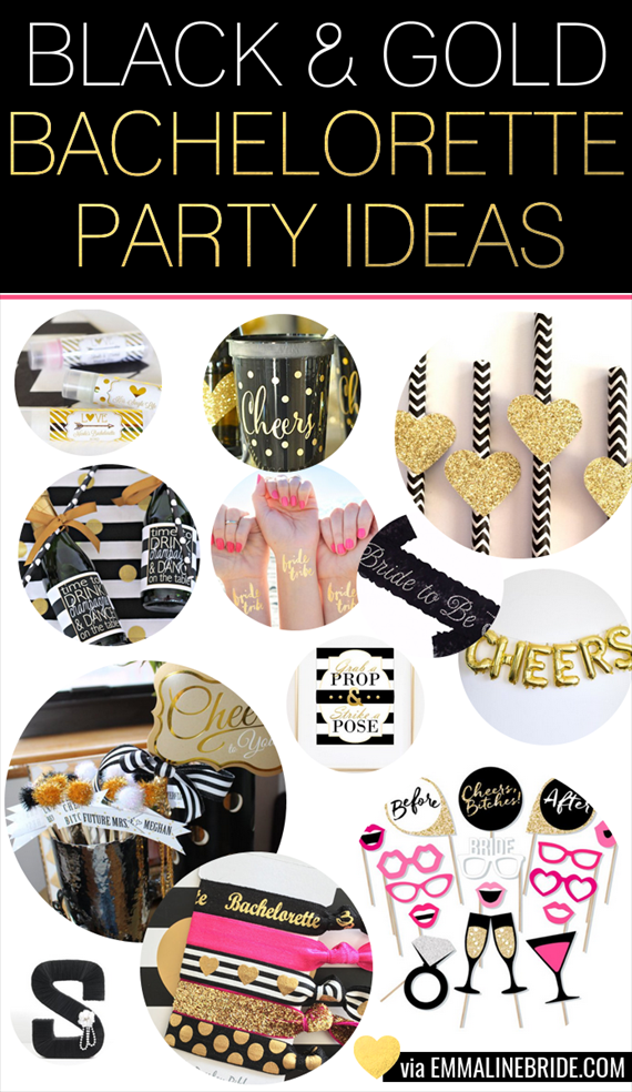Black And Gold Bachelorette Party How To Plan With 20 Ideas