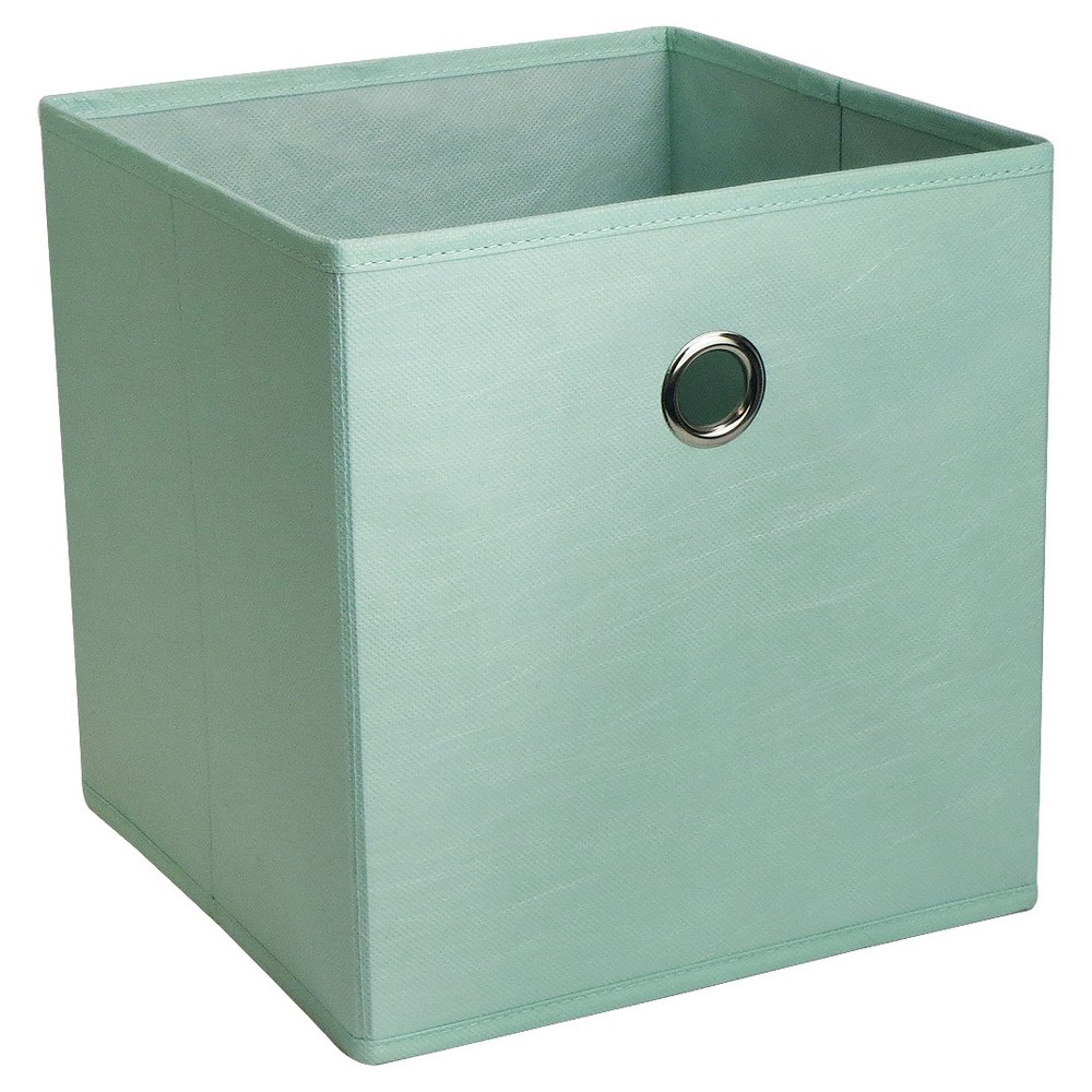 11 Fabric Cube Storage Bin Mint Room Essentials In 2020 Fabric Storage Bins Cube Storage Cube Storage Bins