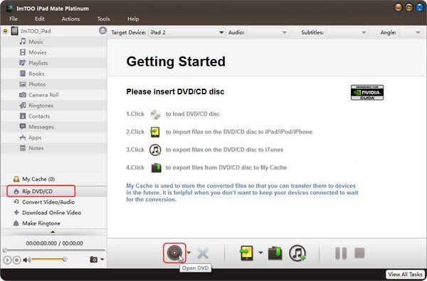 Load DVD to iPad mate