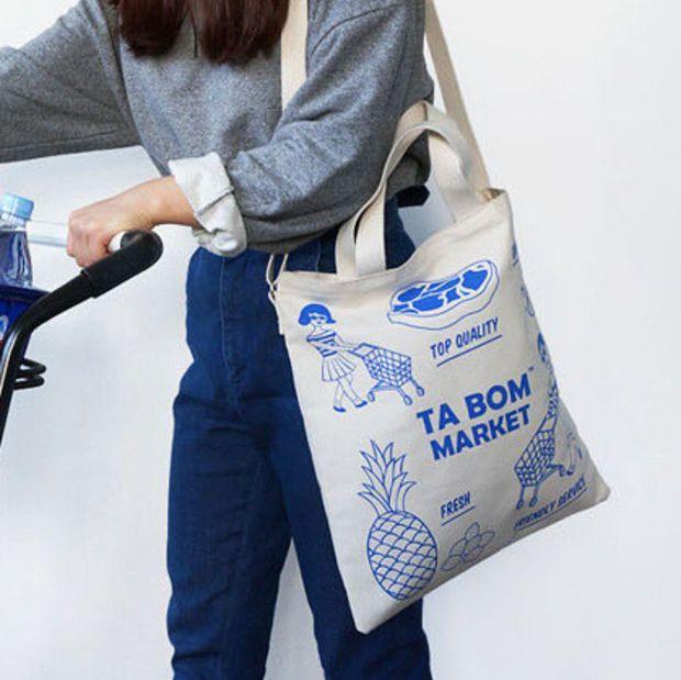 Korean Lovely Bags Canvas Tote Bag  8269849031   05e254bb9324b