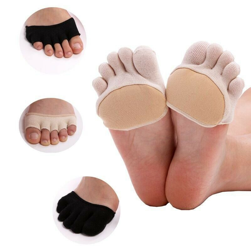 Women Non Slip High Heels Sandal Invisible Half Footie Open Toe Socks