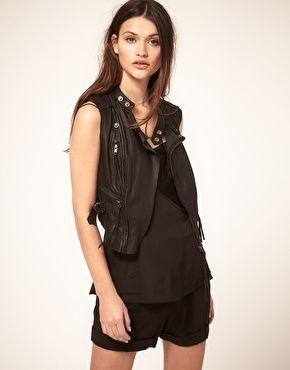 Vero Moda Very Leather Biker Waistcoat