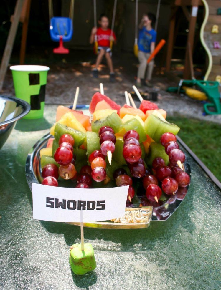Etwas Neues genug Obst-Kindergeburtstag-motto-geburtstag-kindergarten-Minecraft #QH_64