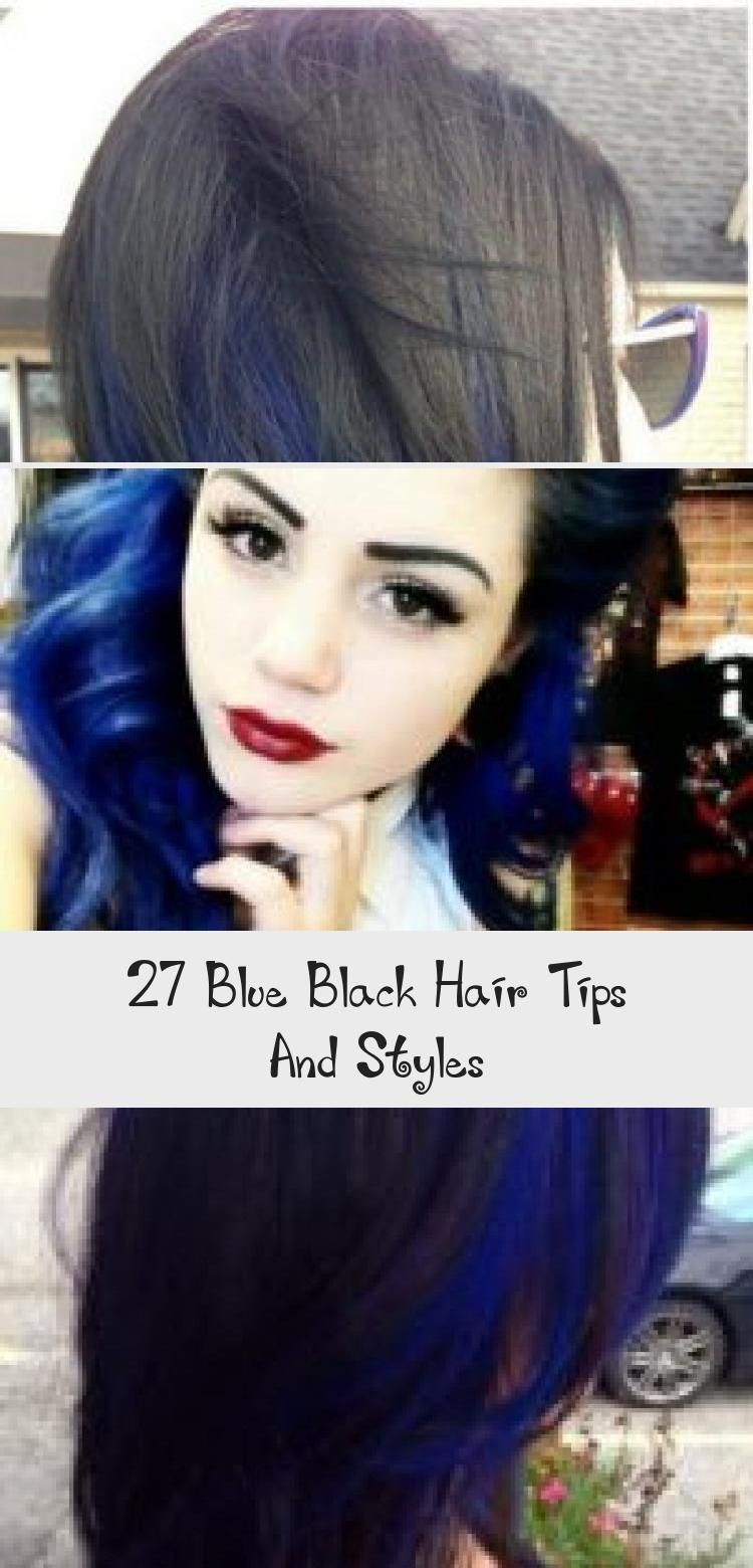 27 Blue Black Hair Tips And Styles - HairStyles in 2020 ...