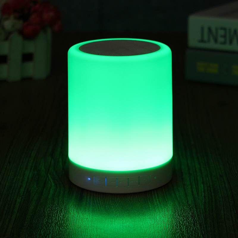 Colorful Wireless Mini Music Box Bluetooth Speaker LED Night Light ...