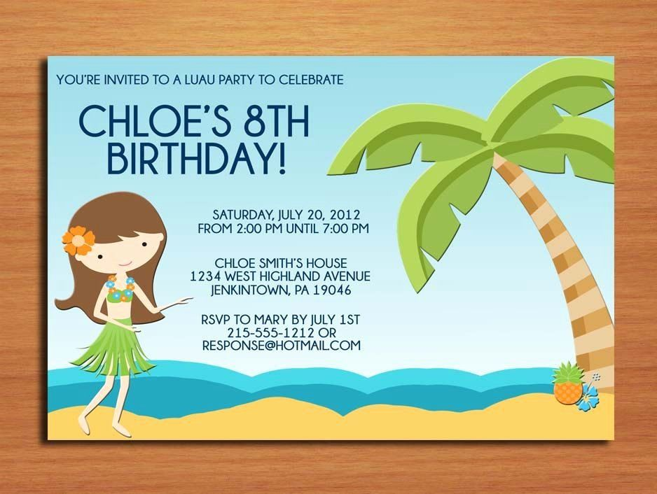 Birthday Party Invitation Text Fresh Birthday Party Invitations Wording In 2020 Kids Birthday Party Invitations Beach Party Invitations Party Invite Template