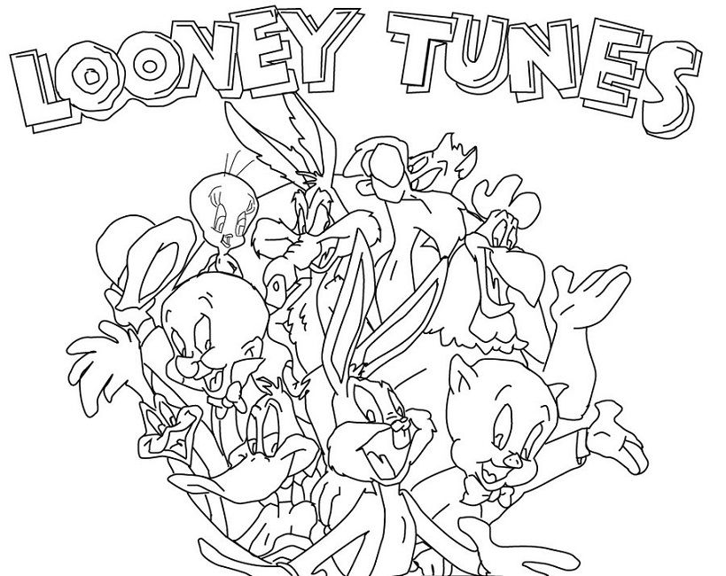 Looney Tunes Coloring Pages Online Cartoon Coloring Pages