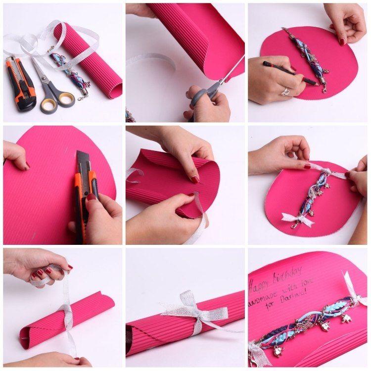 Armband fr Freundin kreativ verpacken  Basteln  Kleine