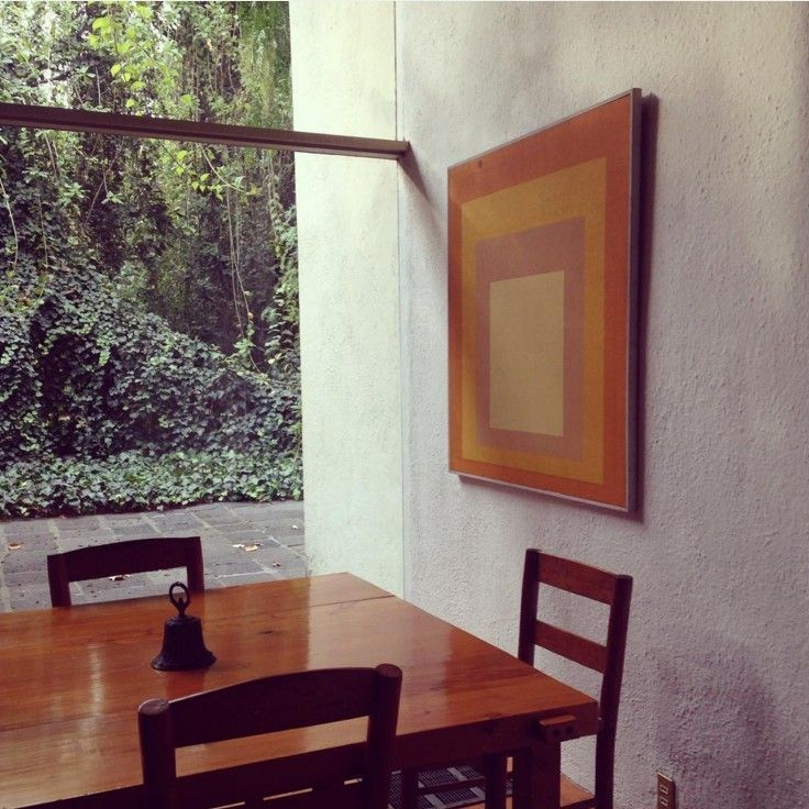 "blueberrymodern "" luis barragan house with painting by"