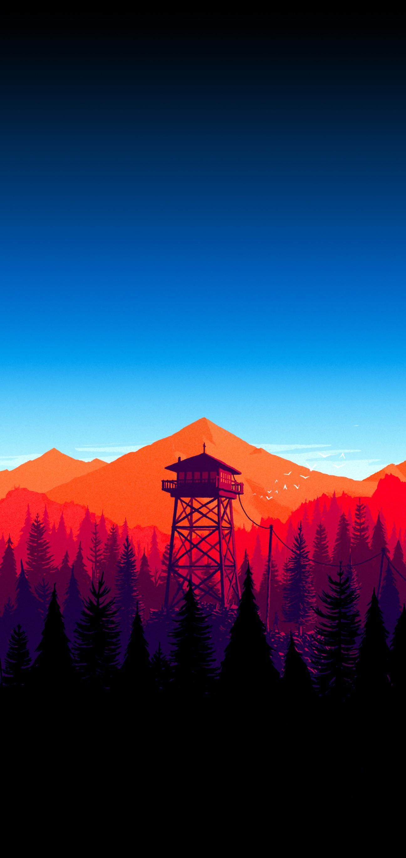 Firewatch Also Makes For An Awesome Wallpaper In 2020 Minimal Wallpaper Phone Wallpaper Mobile Wallpaper