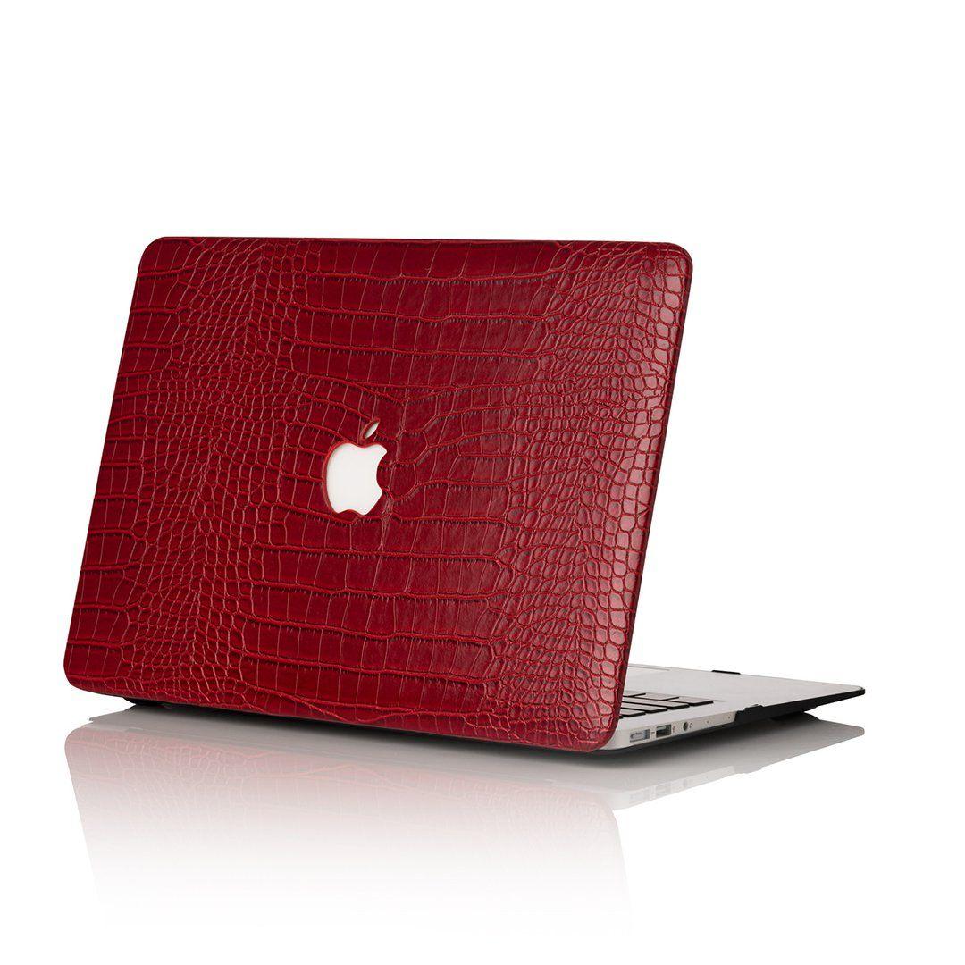 Crimson Faux Crocodile MacBook Case Macbook case, Marble