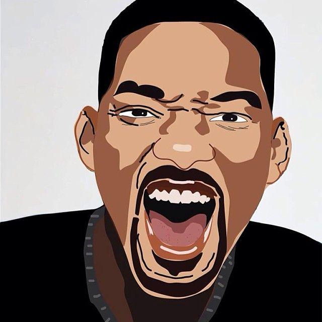 Will Smith. L'un de mes premiers portraits illustrator avec le portrait de Mister V.