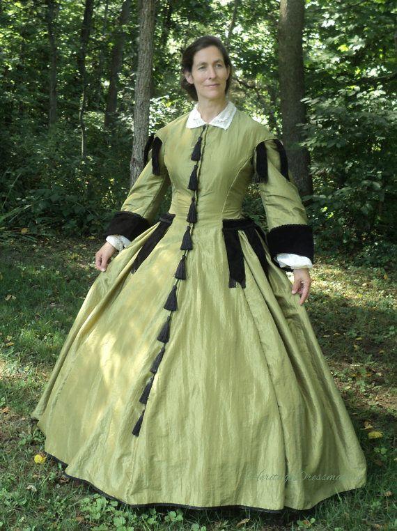 Civil war re-enacting parlor gown by HeritageDressmakers