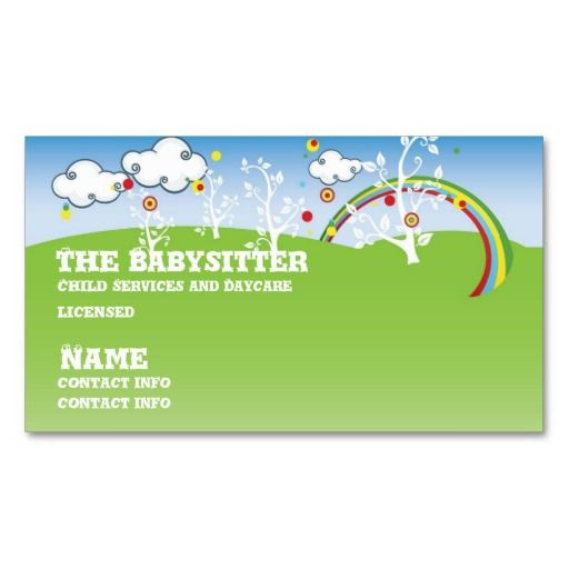 Babysitter childcare business card pinterest childcare business babysitter childcare business card colourmoves