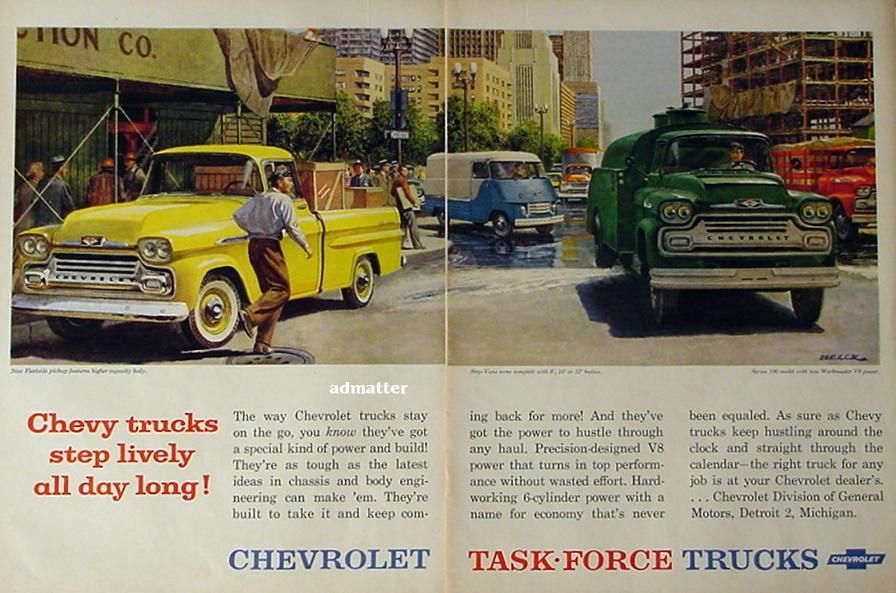 old chevrolet truck ads - Google Search | Old Chevy Truck Ads ...