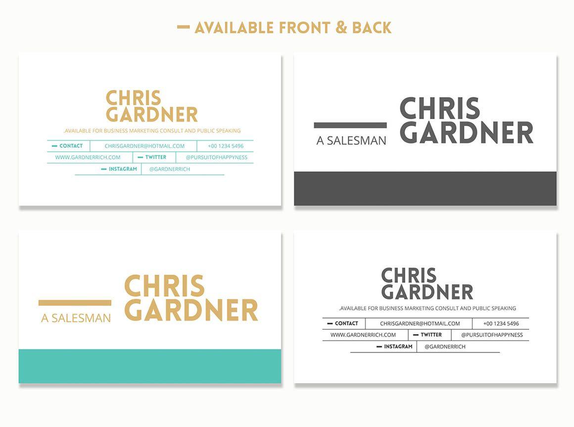 Free minimalistic resume cards