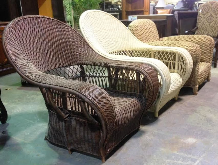 Conservatory Garden Wicker Lounge Chair In White Wood No Cushions 016 03 Retail Price