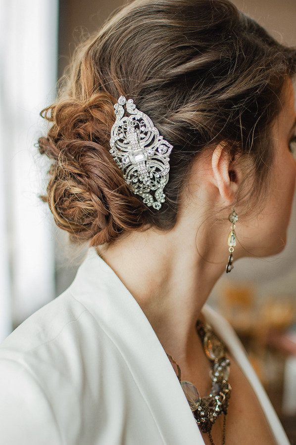 #hair-accessories  Photography: Brittany Lauren Photography - brittanylauren.net Styling + Coordination: Champagne Wedding Coordination - champagnenw.com Floral Design: Dalia\'s Fine Designs - daliasfinedesigns.com  Read More: http://www.stylemepretty.com/2012/12/28/winter-industrial-chic-shoot-from-brittany-lauren-photography/