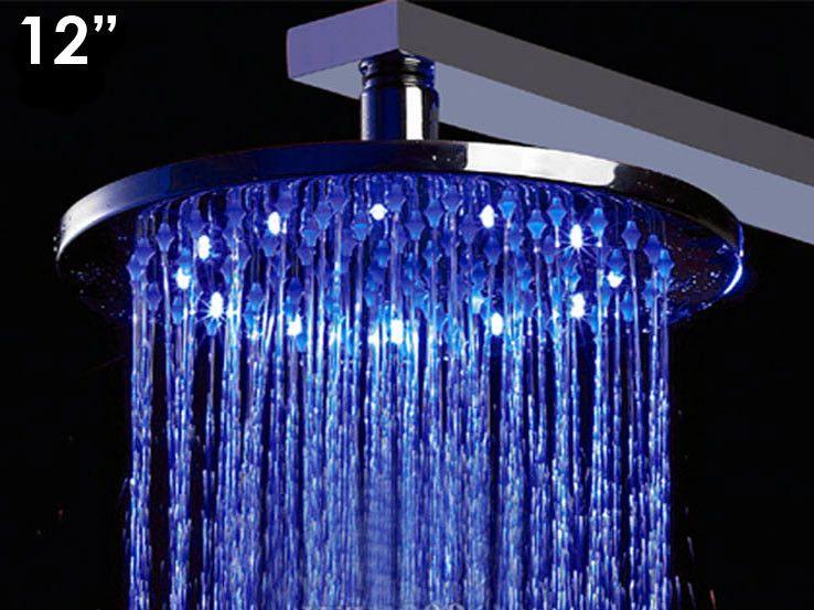 Alfi Brand 12 Led Rain Shower Head Round Shower Heads Led
